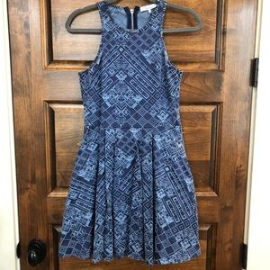 Parker New York A-Line Dress with Halter Neckline